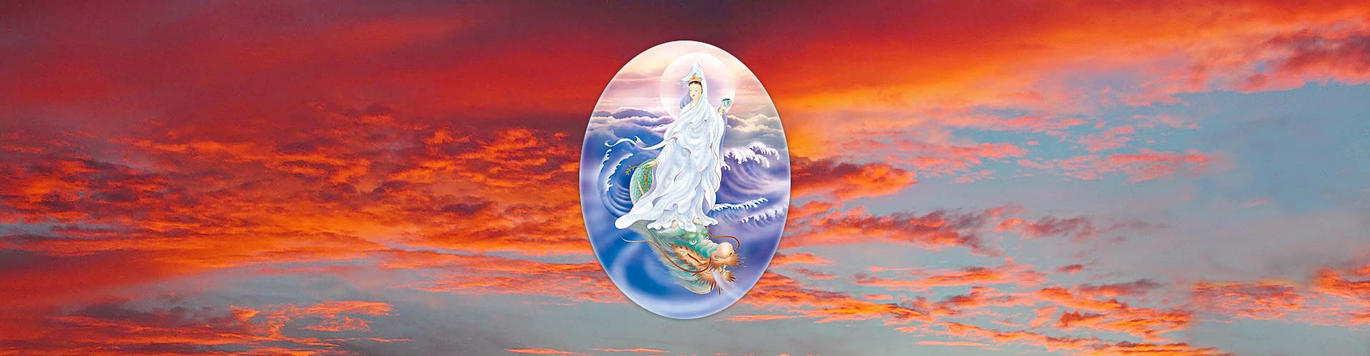 Sunset with Kuan Yin that depicts Dragon's Fire discourses